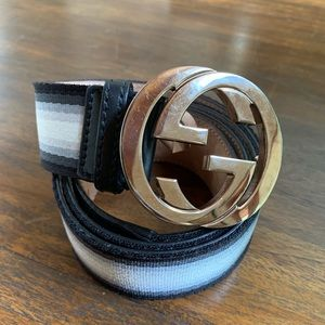 Gucci Men's Interlocking GG Web Belt